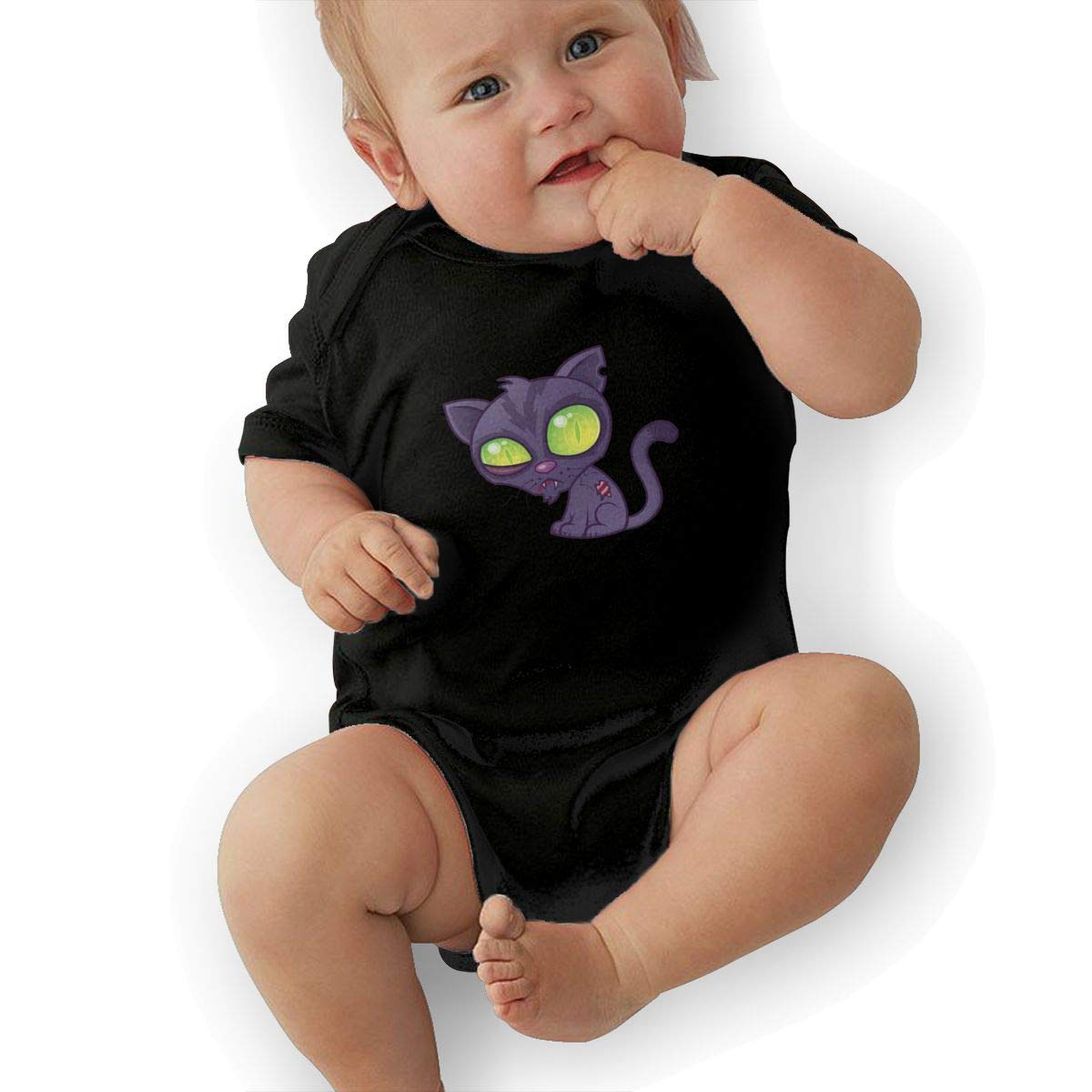 Bodysuits Clothes Onesies Jumpsuits Outfits Black HappyLifea Zombie Kitty Baby Pajamas