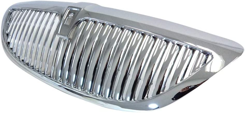 Perfit Liner New Front Chrome Grille Grill Replacement For 03-11 Lincoln Town Car EXCEPT LIMITED EDITION Fits FO1200403 6W1Z8200AA