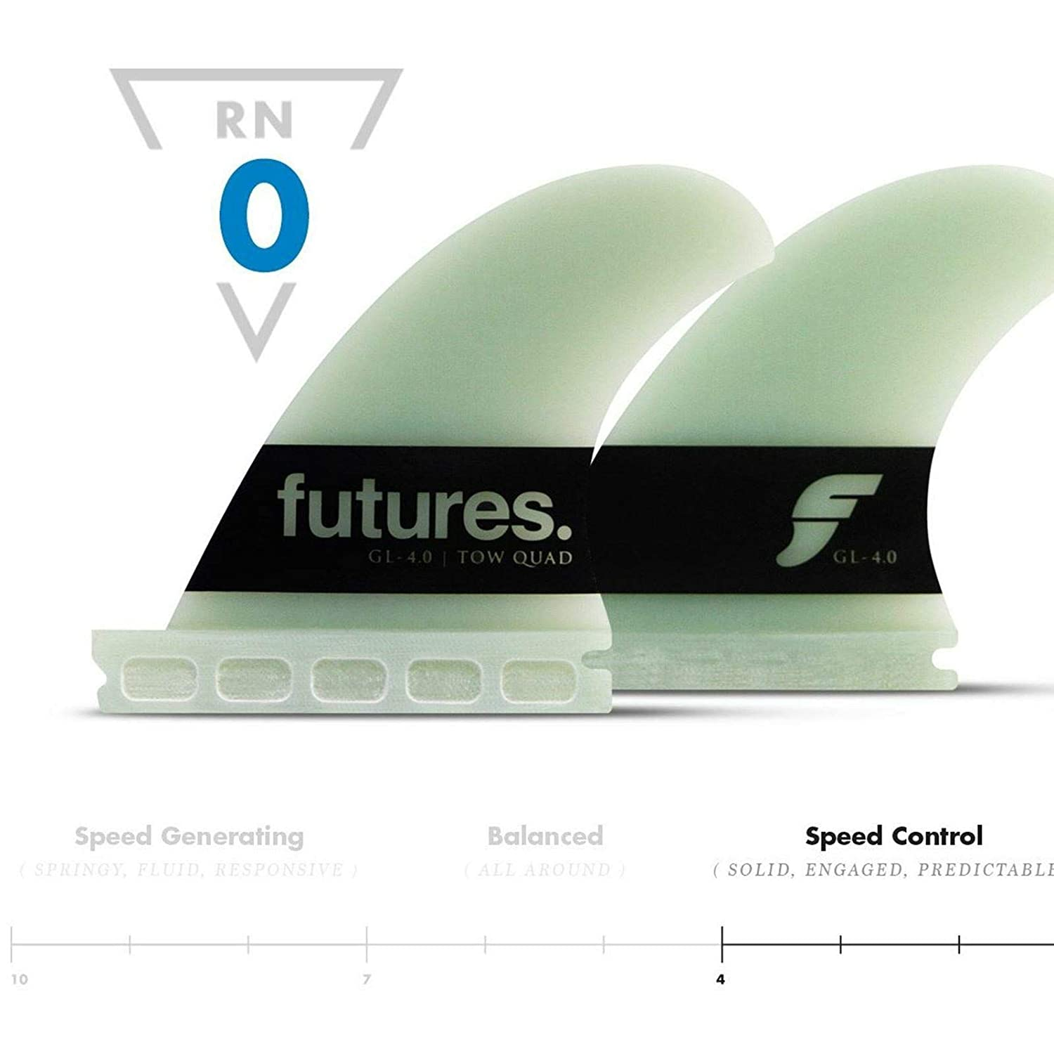 Futures Big Wave Quad Fin Set Gerry Lopez 4.00 G10: Amazon ...