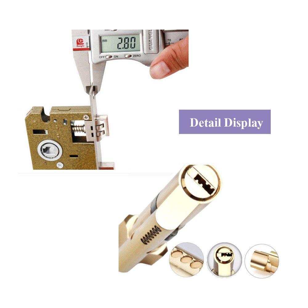 Aluminum Entry Indoor Lever Door Lock Set Bedroom Handle Knob Lockset & Keys by TFCFL (Image #5)