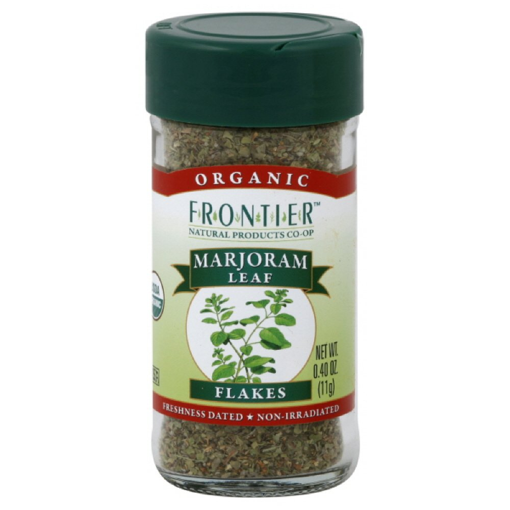Frontier Natural Marjoram Leaf Organic, 0.4000-ounces (Pack of6)