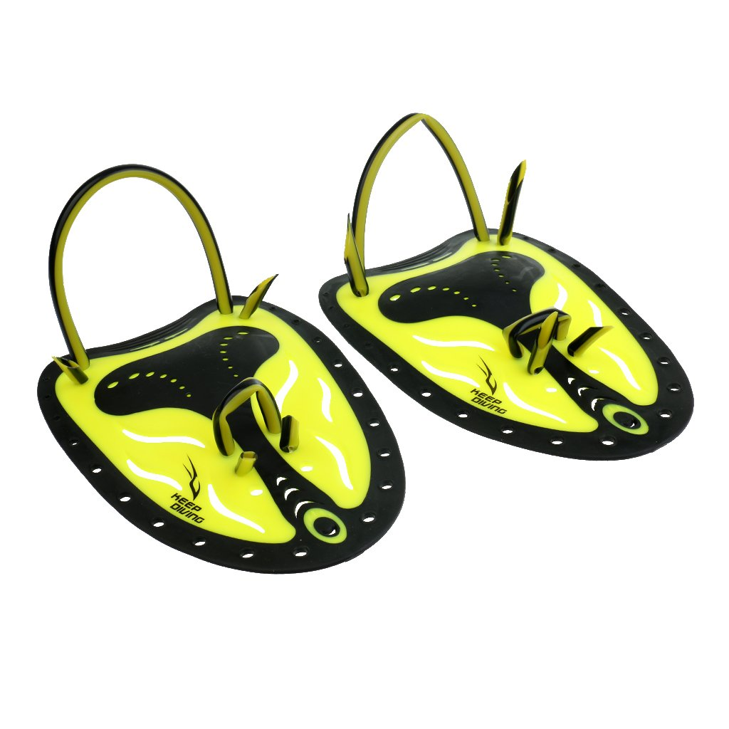 MonkeyJack 2 Pieces 8.66 x 5.9 inch Silicone Hand Paddle Swimming Stroke Skills Fitness Swim Training Aid Large