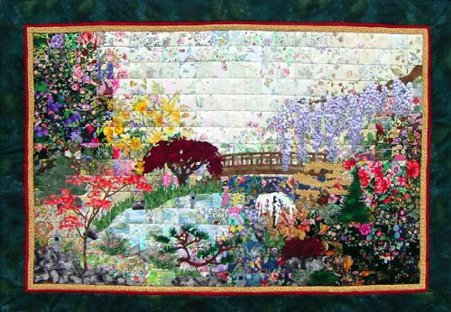 Whims Watercolor Quilt Kits Japanese Garden Quilting Supplies