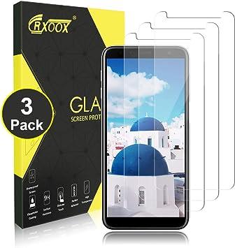 CRXOOX 3-Pack Cristal Templado para Samsung J6 Plus 2018 Vidrio Templado [2.5D Redondo Borde] [0.3mm Ultrafino] [Anti-rasguños] Fácil Instalación y Sin Burbuja Protector Pantalla para Samsung J6 Plus: Amazon.es: Electrónica