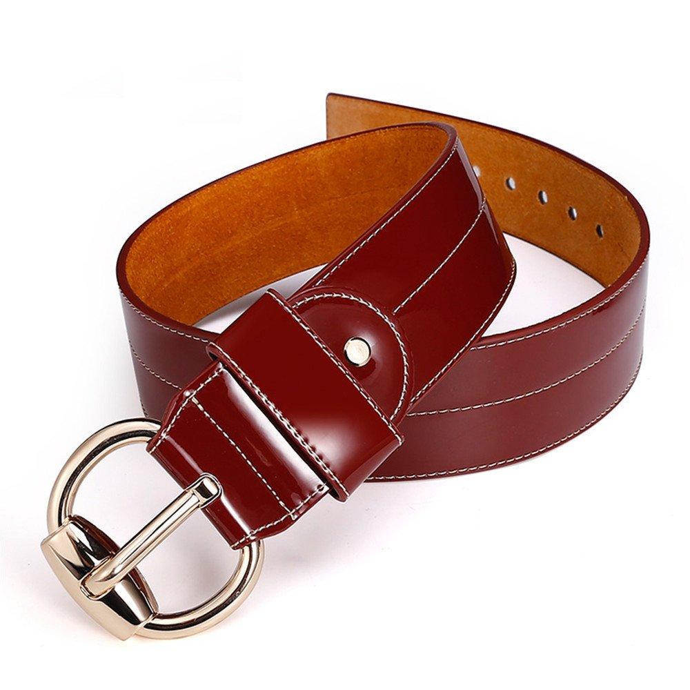 LONFENN Cinto de cuero de dama moda decoración todos coincidir ancho cinturón falda femenina coat pe...