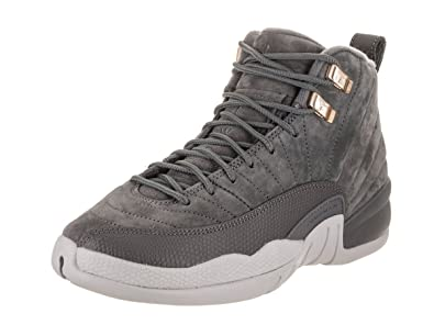 new products 1deaa d04ae Nike Air Jordan 12 Retro BG Big Kids Basketball shoes Dark Grey, 5.5