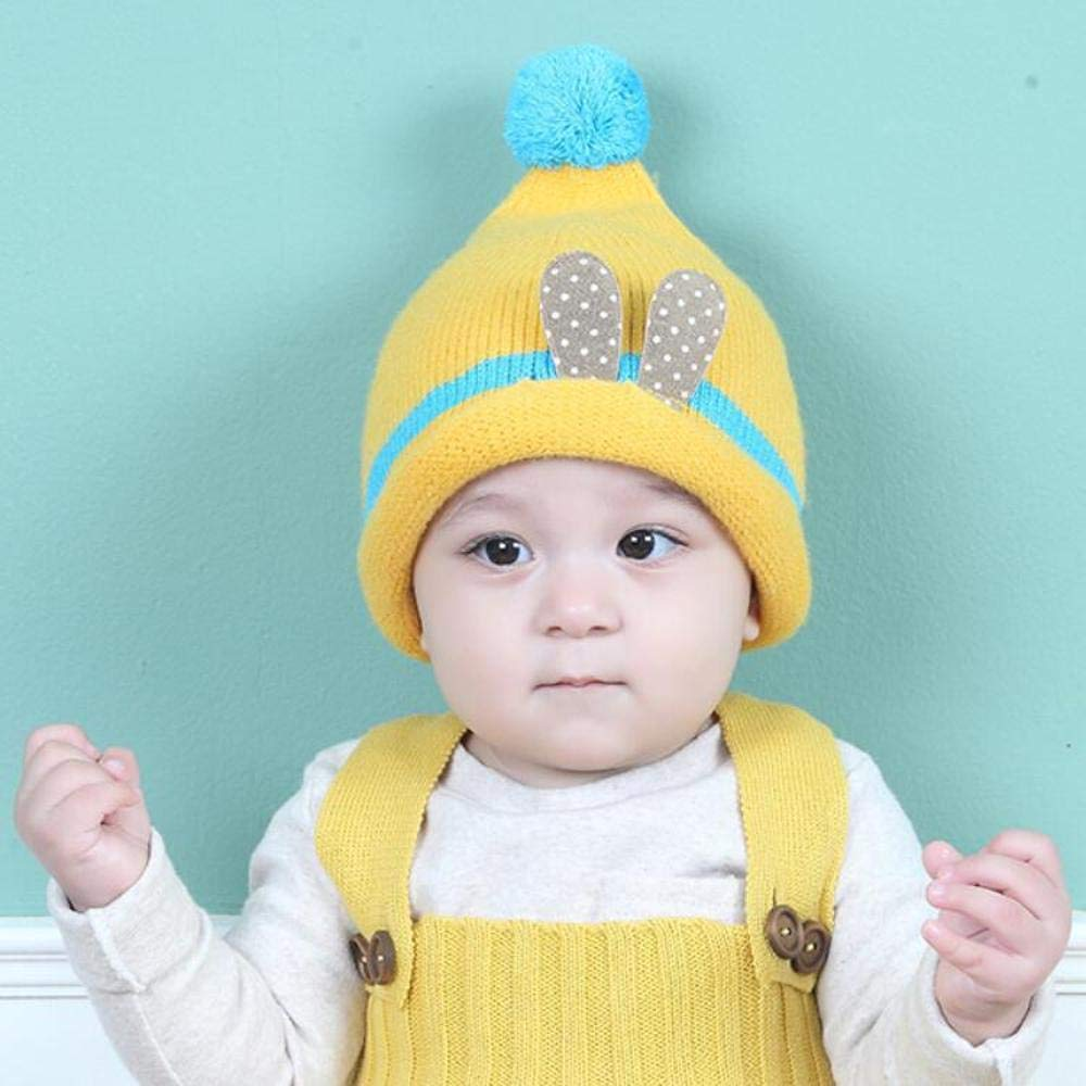 Amazon.com  Myzixuan Knitted caps Fall-Winter Children 6-12 Months Baby Hats  Boys and Girls Fleece Ear Caps  Garden   Outdoor b9c1d6e6c74