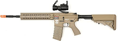electric g g cm16 r8-l desert tan airsoft rifle fps-450 combo w g-11-056 red dot scope Airsoft Gun