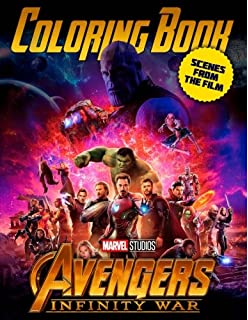 MARVEL Avengers Infinity War Coloring Book Amazing Scenes From The Film