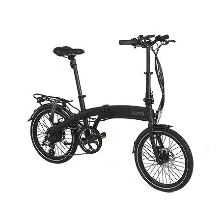 Wabbikes - Bicicleta eléctrica plegable HUGO. Cambios SHIMANO, ruedas de 20