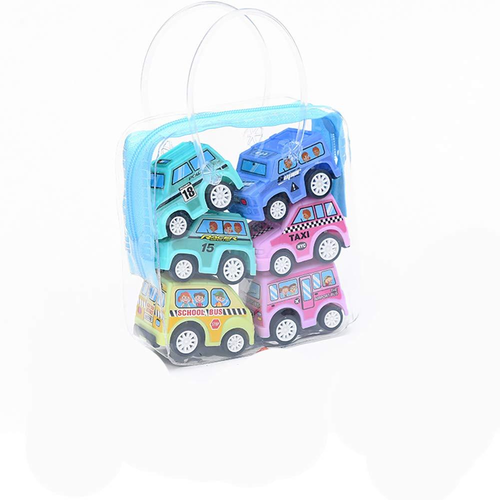 NiceButy 6pcs Pull Back Voitures V/éhicules Mini avec des Motifs color/és pour Les Enfants et de Tout-Petits Intelligences Developments Fun Jouet pour Enfants Couleur al/éatoire