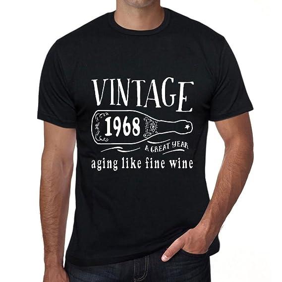 One in the City 1968 Aging Like a Fine Wine Hombre Camiseta Negro Regalo De Cumpleaños