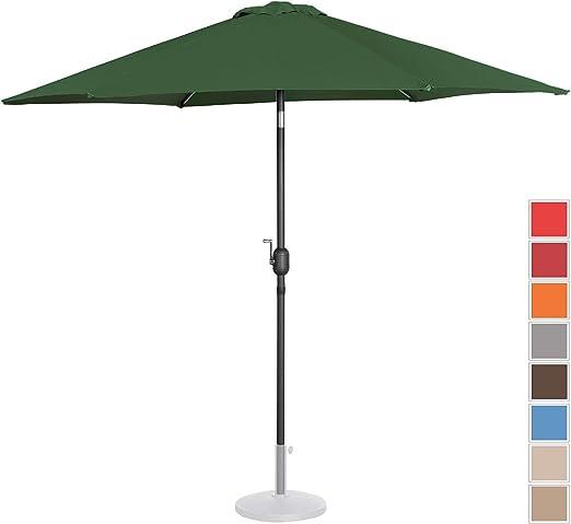 Uniprodo Sombrilla Grande Parasol De Jardín Uni_Umbrella_R270GR (Pantalla Hexagonal De Ø 270 cm con Densidad De 180 g/m2, Inclinable, Color Verde): Amazon.es: Jardín