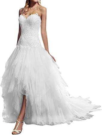 VKStar® Robe Asymétrique Mariée Femme Tulle