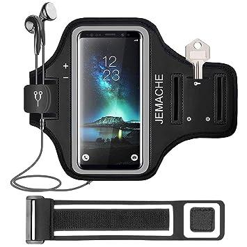 2c321883982 Galaxy Note 9/8 Brazalete, JEMACHE Deportivo Bandas para el Brazo para  Samsung Galaxy Note 5/8/9 Soporte para Llaves y Tarjetas (Negro):  Amazon.es: ...