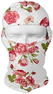 Red Pink Rose On White Tactical Multi Use Sport Face Mask Bandana liviana para senderismo, correr
