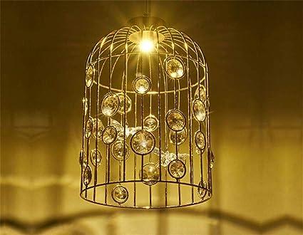 Plafoniere Per Hotel : Eeayyygch plafoniera a forma di gabbia per uccelli lampadario