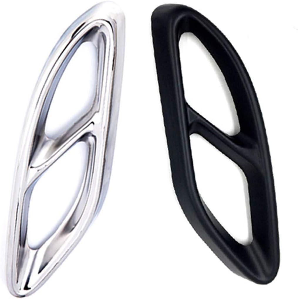 Color : Silver Voiture Pare-Chocs Arri/ère du Tuyau D/échappement Arri/ère Gorge Fit for Mercedes Benz A B C Classe E GLC GLE GLS 2015-2019 Car Tail Gorge D/écoration