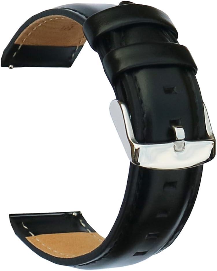 Malla Cuero Reloj Galaxy Watch 42mm/Garmin Vivoactive 3Negra