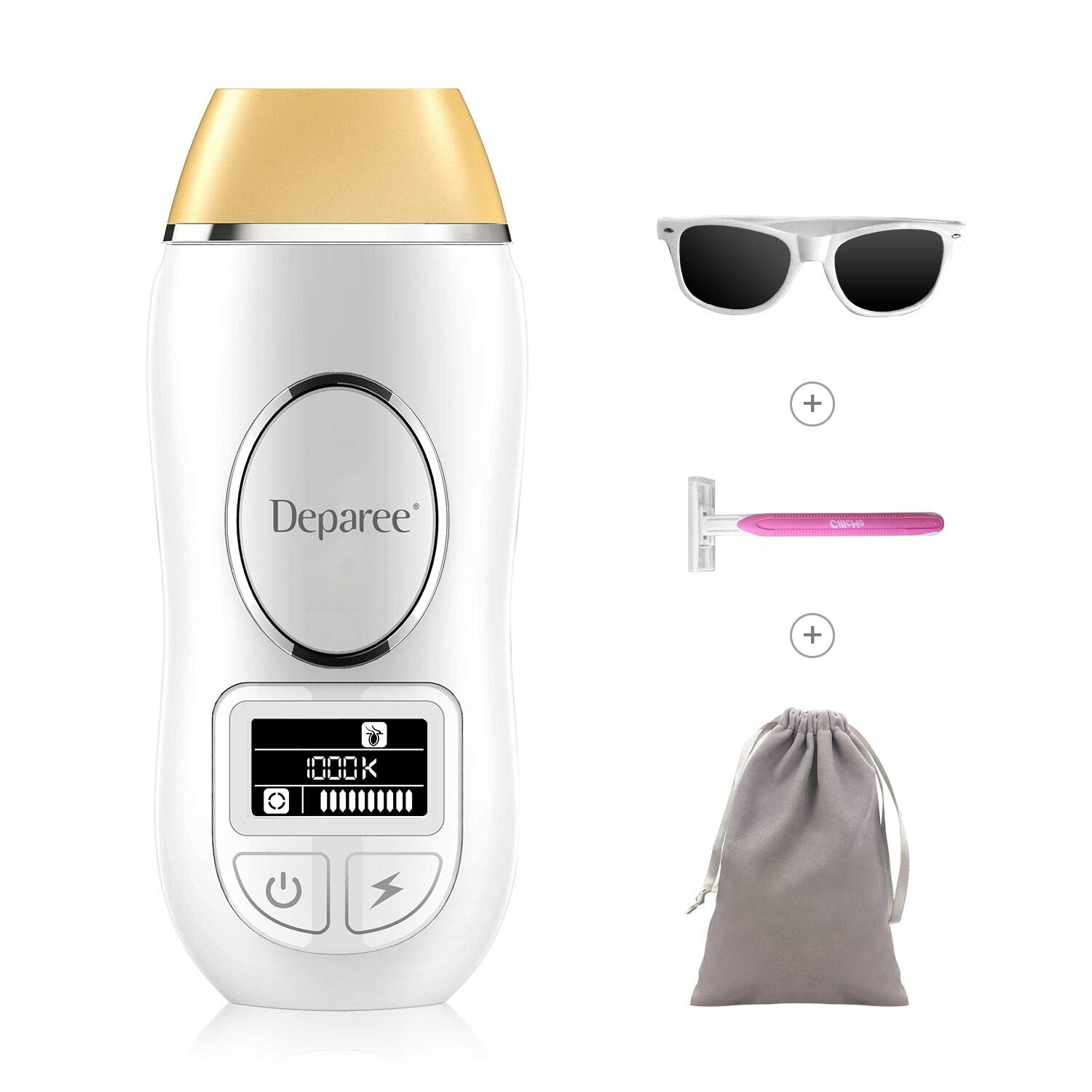 Hair Removal for Women and Men, Deparee IPL Permanent Hair Removal with 1000000 Flashes and Replaceable Lamp Head, Facial Body Professional Painless Hair Remover Device Home Use (Upgrade Version)