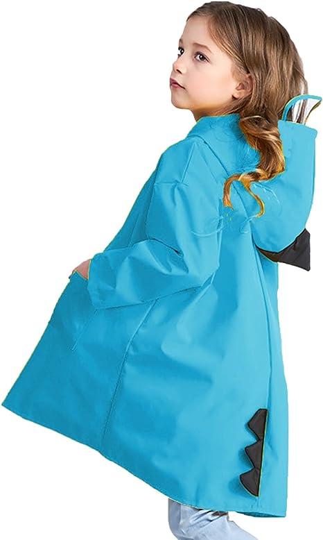 Dinosaur Raincoat Kids Unisex Rainproof Rain Coat Waterproof Poncho Rainwear F