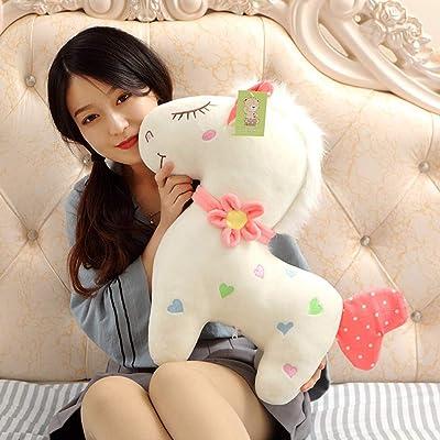 lzpoyaya Cute Couple Horse Plush Toy Doll, Stuffed Soft Animal Unicorn Toys, Baby Children Valentine's Gift 30cm (Rosa) 1pcs: Juguetes y juegos