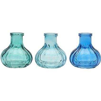 Juego de 3 botellas de cristal estilo vintage para decoración de bodas