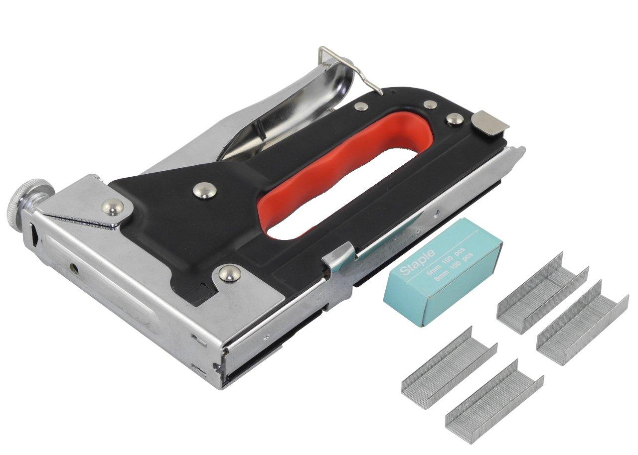 Tacker 4-12 mm Handtacker 6 und 8 mm Tackerklammern Benson Tools 1650