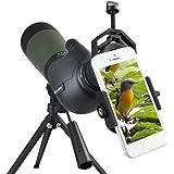 Solomark Gosky Porro Prism 20-60 x 80-Cannocchiale Spotting scope-Cannocchiale, impermeabile, per attività sportive comode, ad angolo 45°, con treppiede e Oculare-Adattatore Digiscoping-Il mondo in per lo schermo