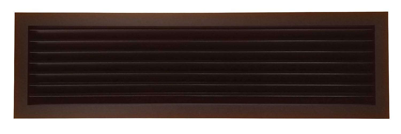Griglia a lamelle nera–70x 20cm–ventilazione/aerazione per camini Efam Design