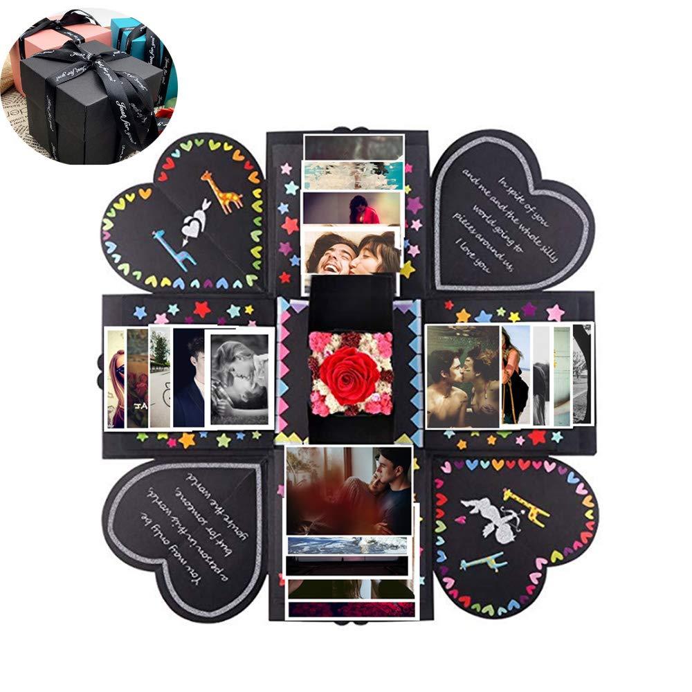 Explosion Box,DIY Surprise Photo Box,Love Box,Love Memory Wedding Photo Album Scrapbooking,Creative Explosion Gift Box for Anniversary Graduation Birthday Gift by IOKUKI