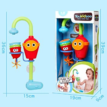 SinHan Baby Bath Toy - Flow N Fill Spout - Three Stackable Cups and ...