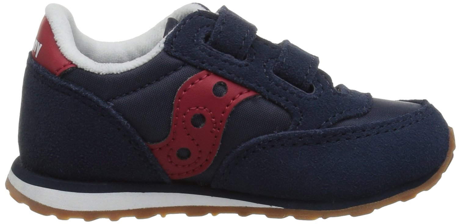 Saucony Jazz Hook & Loop Sneaker (Toddler/Little Kid), Navy/Red, 12 M US Little Kid by Saucony (Image #7)