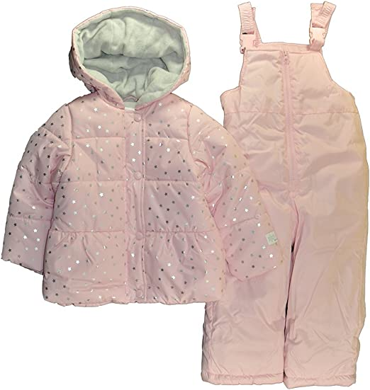 Carters Toddler Girls Leopard Snowsuit With Bib Just One You Made By Pink 12M
