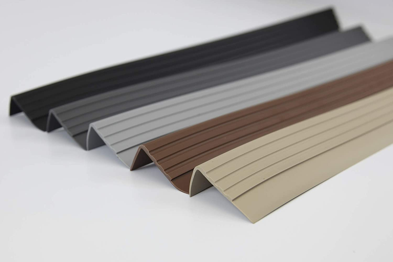 Profil/é descalier antid/érapant en PVC RM 1,5 m 30 x 27 mm