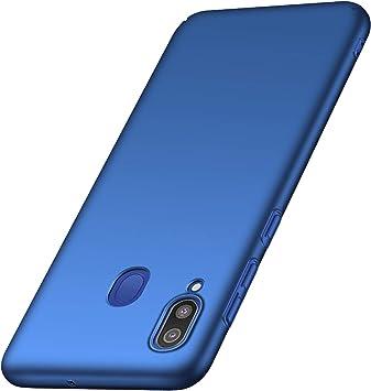 anccer Funda Samsung Galaxy M20, Ultra Slim Anti-Rasguño y Resistente Huellas Dactilares Totalmente Protectora Caso de Duro Cover Case para Samsung M20 (Azul Liso): Amazon.es: Electrónica