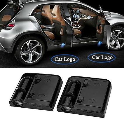 Linterna LED inalámbrica para puerta de coche con logotipo de cortesía, proyector láser, luz de bienvenida LED de 10ª generación