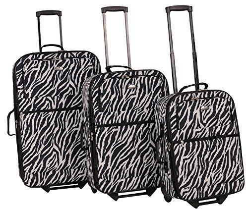 american-flyer-safari-3-piece-luggage-set-zebra-black-one-size