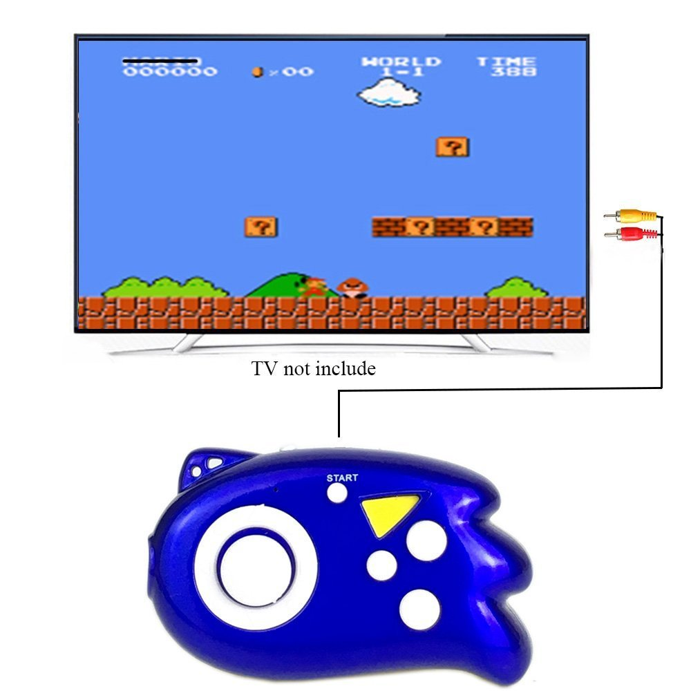 JJFUN Mini TV Handheld Game Console Player for Kids,Connect and Play 89 in 1 Retro Classic Games,Old School Arcade Style Plug & Play Video Games Controller for Children Boys Girls 4-12 Years Old-Blue