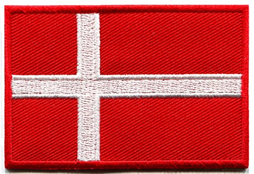Flag of Denmark Danish Danes Europe Vikings embroidered applique iron-on patch ()