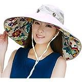 Packable Extra Large Brim Floppy Sun Hat Reversible UPF 50+ Beach Sun Bucket Hat
