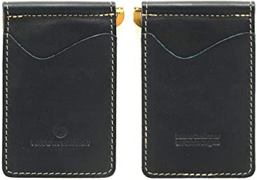 432cda7d256 Navy compact wallet with money clip wallet. Madison wallet made in USA by  Made In