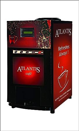 PRASHANTHA Atlantis 2 Lane Tea and Coffee Metal Mini Vending Machine with New Door (Refreshes Always) with Free Laptop Backpacks