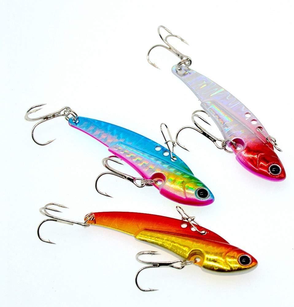 OriGlam Leurres de p/êche durs en m/étal Leurres durs rotatifs Cuill/ère /à saumon Bassin Vibrant Cuill/ères /à saumon Bass//Truite