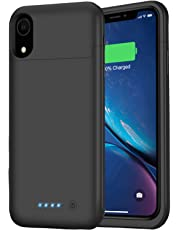 Feob Battery Case for iPhone XR, Upgraded 5500mAh Portable Charging Case Extended Battery Pack for iPhone XR Charger Case (6.1 inch)- Black