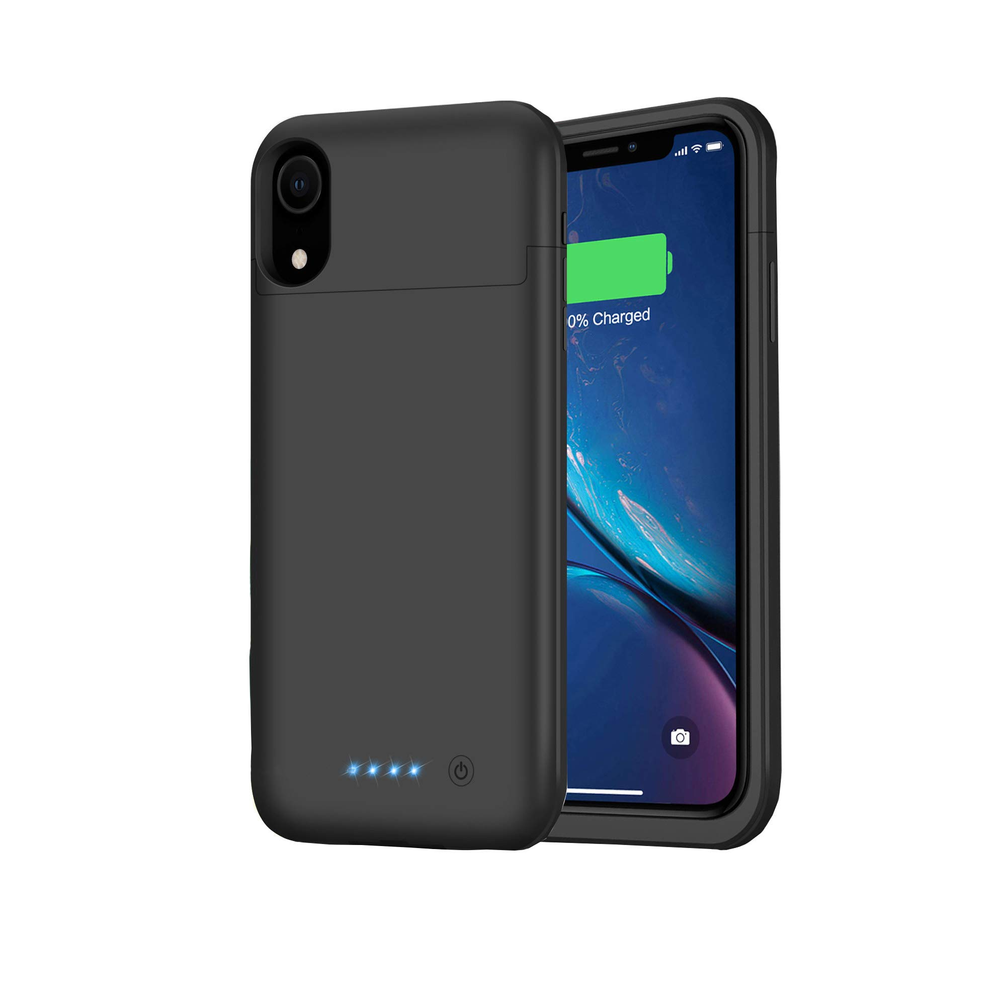 Feob Battery Case for iPhone XR, Upgraded 5500mAh Portable Charging Case Extended Battery Pack for iPhone XR Charger Case (6.1 inch)- Black by Feob