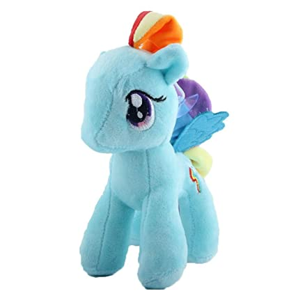 JEWH Rainbow Little Horse - Plush Toy Poni Unicorn - Twilight Sparkle Doll Toys for Children
