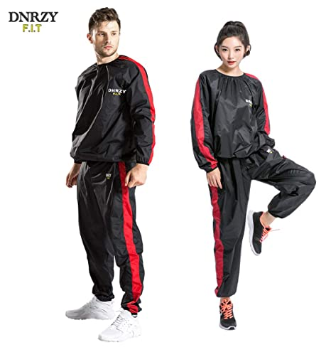 4f05d652732 DNRZY FIT Sweat Sauna Suits for Men Women Weight Loss Plus Size Anti-Rip  Sport Workout Suits Running Slimming Sauna Suit Fat Burner Durable Long ...