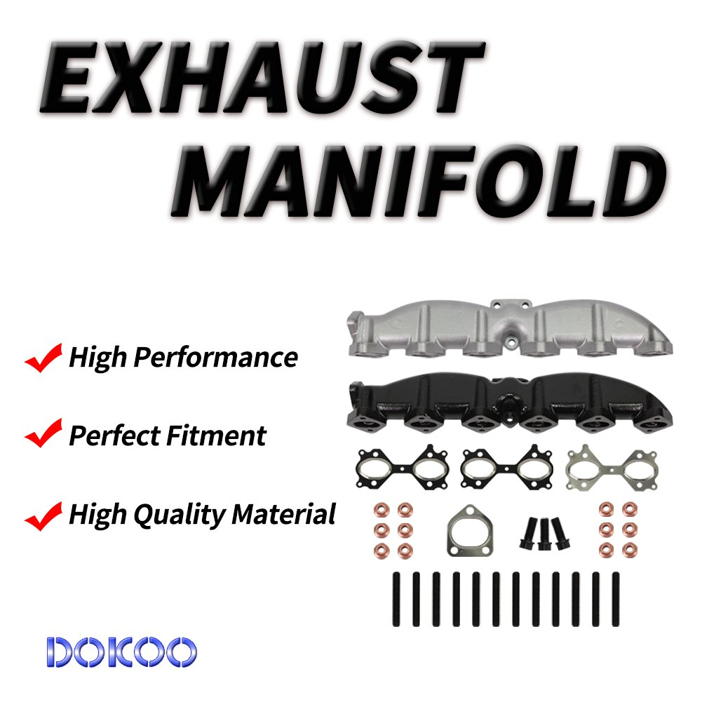 Set of Gaskets Nuts Studs Bolts fit Exhaust Manifold Kit 11627788422 for BMW E39 E60 E61 E65 X3 X5 325d 330d 525d 530d 730d xDrive 3.0d 2001 2002 2003