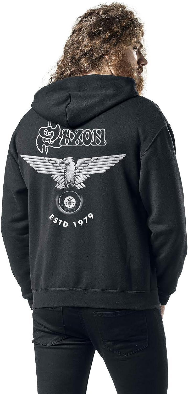 Saxon Sweat-Shirt /À Capuche Est 1979 British Metal Band Logo Nouveau Officiel